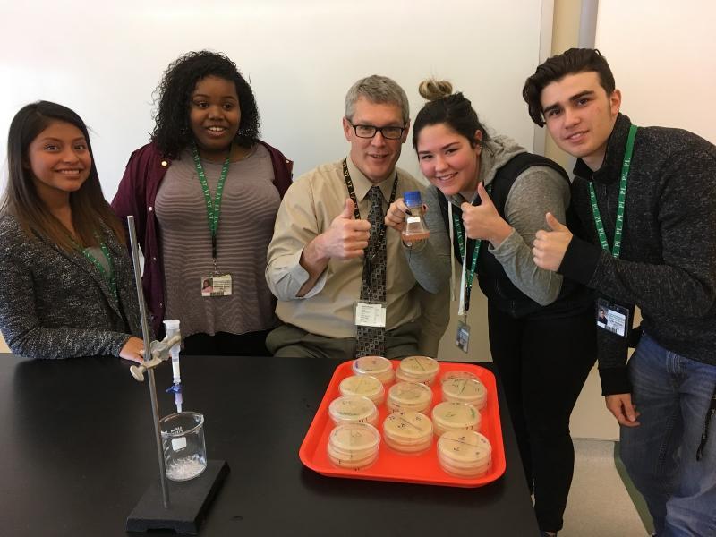 Scott Atkinson and students